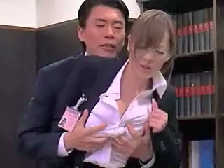 Japanese Glasses Office Asian Babe Asian Big Tits Ass Big Tits