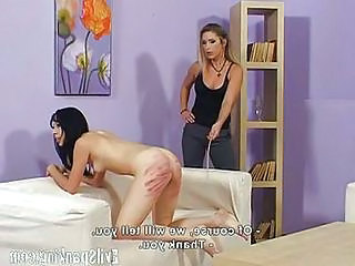 Girls Trying Something New; Spanking