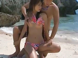 Hot Asian Babe Akina Gets Fucked Outdoor
