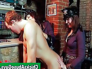 Video from: redtube | Police Girls Pegging Man At The Bar
