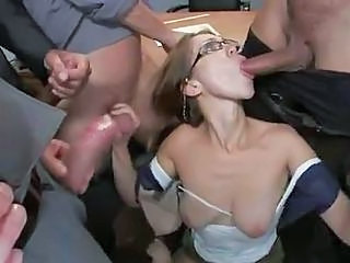 Audrey Rose Gangbanged In The Cl...