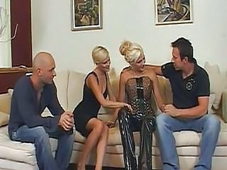 Latex Blonde Groupsex