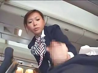 Japanese Stewardess Handjob - Pa...