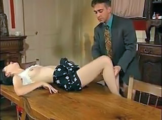 Pretty French Wife Gets Fucked On The Table ! _: facials french threesomes