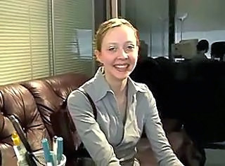 Strapon Secretary Office Amateur Teen Boss Interview