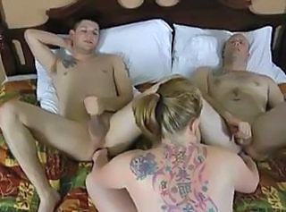Rose Blume Fucks Conway and Billy J _: bisexuals cream pie cumshots double penetration