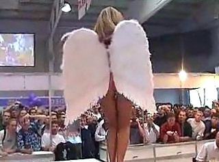 Denise, Nude in Public as an Angel by snahbrandy