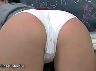 Uber slut Chloe Lovette huge pussy lips in the classroom