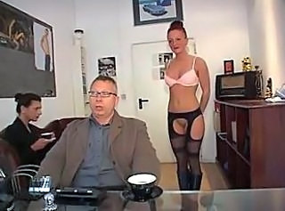 German Threesome Secretary German Milf Milf Office Milf Stockings