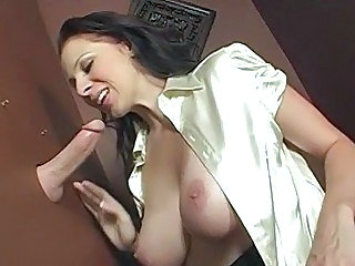 Huge tits Gianna sucks through gloryhole