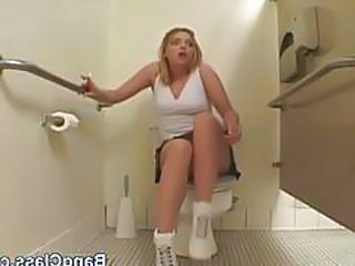 Amazing Pornstar Skirt Bathroom Teen Bathroom Schoolgirl
