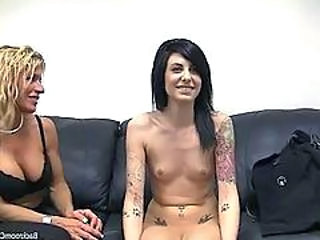 Goth Casting Threesome Bus + Teen Casting Teen Cute Ass