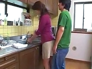 Mom Kitchen Asian Japanese Milf Milf Asian