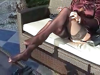 Feet Fetish Legs Mature Stockings Outdoor Outdoor Mature