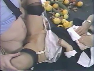 Clothed Stockings Vintage Abuse Stockings Threesome Hardcore