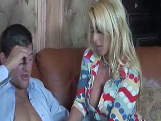 Mom Blonde Handjob