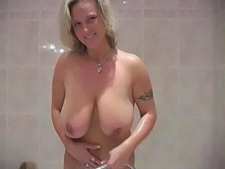 Blonde Homemade  Amateur Amateur Big Tits Bathroom