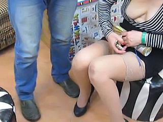 Braless girl in stockings in egyptian shop Sex Tubes