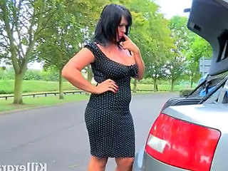 British Car Outdoor British Milf Milf British Outdoor
