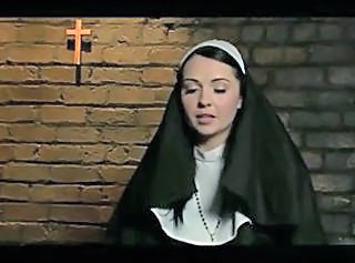 Nun gets rough BDSM assfuck from 2 priests