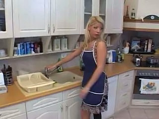Wife Blonde Babe Blonde Housewife Housewife Kitchen Housewife