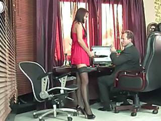 Secretary Babe Office Office Babe Stockings