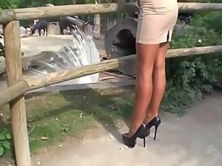Stockings Outdoor Ass Outdoor High Heels Stockings