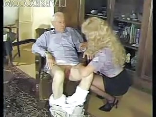 Old And Young Handjob Older Blonde Grandpa Old And Young German Busty Nurse Young