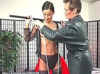 This video features scenes of BDSM