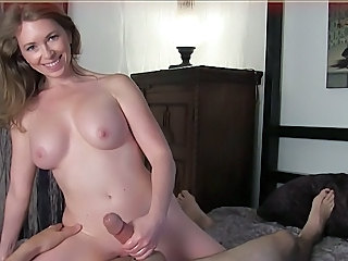 Blonde Handjob  Mistress