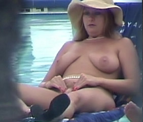 Pool MILF Blonde Chubby Blonde