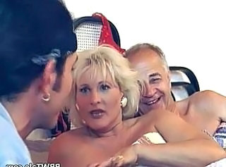 Hot mature blonde having fun