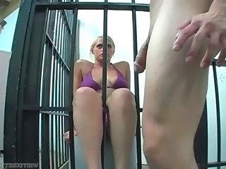The blondie jail footjob