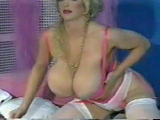 Blonde MILF Flaunting Huge Tits