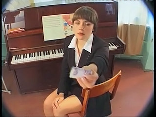 School Cash Brunette Russian Schoolgirl School Teen
