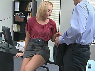 Office Babe Blonde Office Babe