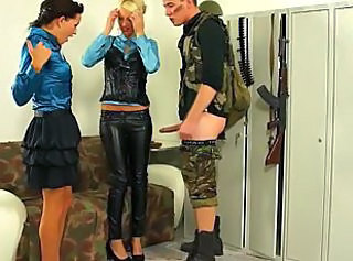 Army Babe Threesome Babe Ass Threesome Babe