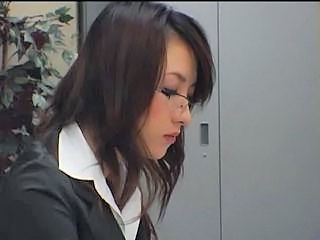 Secretary Glasses Office Asian Babe Babe Ass Cute Asian