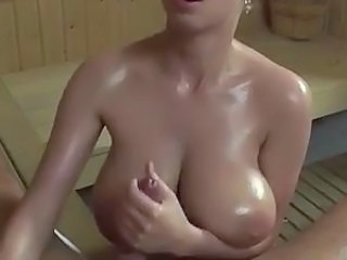 Handjob Natural Oiled Big Tits Tits Oiled Big Tits Handjob