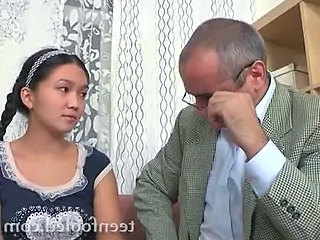 Old and Young Interracial Teen Asian Teen Old And Young Teacher Asian