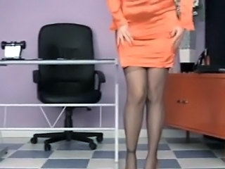 Office Secretary Stockings Stockings Nylon  Squirt Orgasm