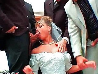 Video from: pornhub | You may now gangbang the bride