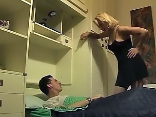 Blond Mom Seduces Son     ;s friend