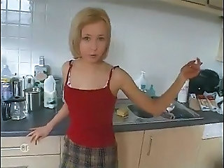 Obedient french petite blonde