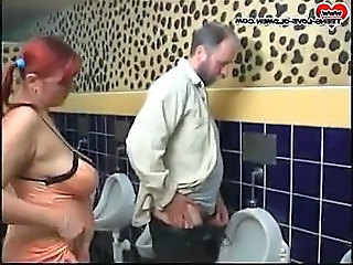 Chubby girl  fuck on toilet