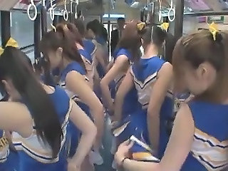 Cheerleader Japanese Teen Asian Teen Bus + Asian Bus + Teen