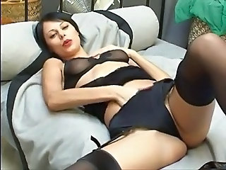 Masturbating Solo Lingerie Milf Lingerie Milf Stockings Stockings