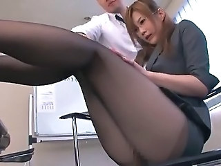 Legs Secretary Glasses Asian Babe Babe Ass Babe Panty