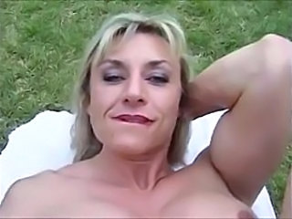 Muscled Outdoor Blonde Outdoor Outdoor Mature