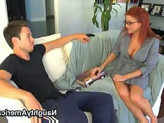 Redhead Amazing Glasses Milf Ass